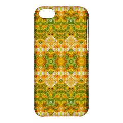 Boho Stylized Floral Stripes Apple Iphone 5c Hardshell Case by dflcprints