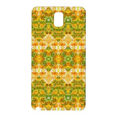 Boho Stylized Floral Stripes Samsung Galaxy Note 3 N9005 Hardshell Back Case by dflcprints