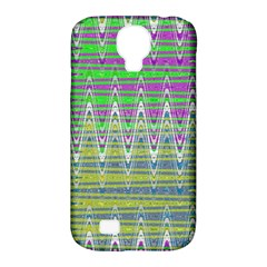 Colorful Zigzag Pattern Samsung Galaxy S4 Classic Hardshell Case (pc+silicone) by BrightVibesDesign
