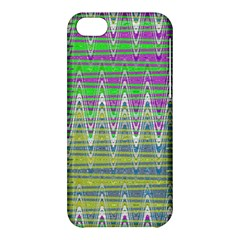 Colorful Zigzag Pattern Apple Iphone 5c Hardshell Case by BrightVibesDesign