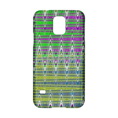 Colorful Zigzag Pattern Samsung Galaxy S5 Hardshell Case  by BrightVibesDesign