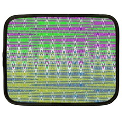 Colorful Zigzag Pattern Netbook Case (xl)  by BrightVibesDesign