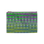 Colorful Zigzag Pattern Cosmetic Bag (Medium)  Front