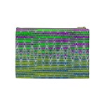 Colorful Zigzag Pattern Cosmetic Bag (Medium)  Back