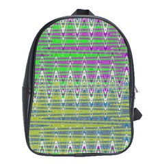 Colorful Zigzag Pattern School Bags (xl)  by BrightVibesDesign