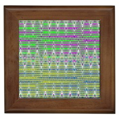 Colorful Zigzag Pattern Framed Tiles by BrightVibesDesign