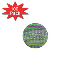 Colorful Zigzag Pattern 1  Mini Magnets (100 Pack)  by BrightVibesDesign