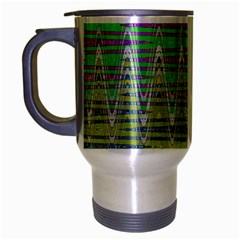 Colorful Zigzag Pattern Travel Mug (silver Gray) by BrightVibesDesign