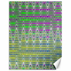 Colorful Zigzag Pattern Canvas 12  X 16   by BrightVibesDesign