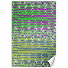 Colorful Zigzag Pattern Canvas 20  X 30   by BrightVibesDesign