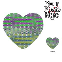 Colorful Zigzag Pattern Multi Purpose Cards (heart)  by BrightVibesDesign