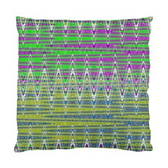 Colorful Zigzag Pattern Standard Cushion Case (one Side) by BrightVibesDesign