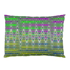 Colorful Zigzag Pattern Pillow Case by BrightVibesDesign