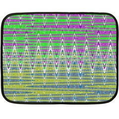 Colorful Zigzag Pattern Double Sided Fleece Blanket (mini)  by BrightVibesDesign