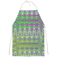 Colorful Zigzag Pattern Full Print Aprons by BrightVibesDesign