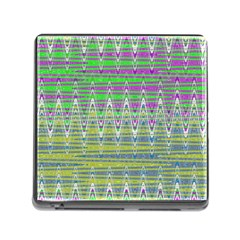 Colorful Zigzag Pattern Memory Card Reader (Square) by BrightVibesDesign