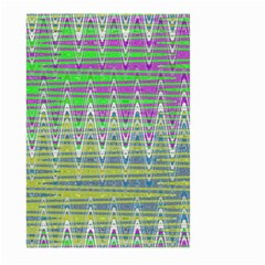 Colorful Zigzag Pattern Large Garden Flag (Two Sides) by BrightVibesDesign