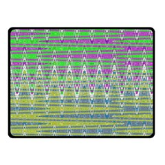 Colorful Zigzag Pattern Double Sided Fleece Blanket (small)  by BrightVibesDesign