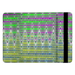 Colorful Zigzag Pattern Samsung Galaxy Tab Pro 12.2  Flip Case by BrightVibesDesign