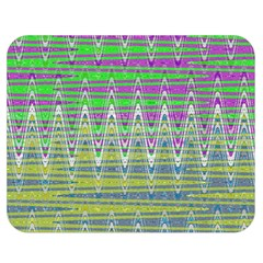 Colorful Zigzag Pattern Double Sided Flano Blanket (medium)  by BrightVibesDesign