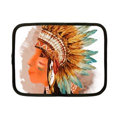 Native American Young Indian Shief Netbook Case (small)  by TastefulDesigns