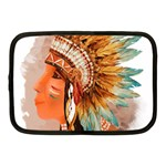 Native American Young Indian Shief Netbook Case (Medium)