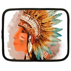 Native American Young Indian Shief Netbook Case (large) by TastefulDesigns