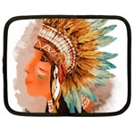 Native American Young Indian Shief Netbook Case (Large)