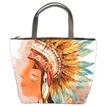 Native American Young Indian Shief Bucket Bags