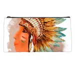 Native American Young Indian Shief Pencil Cases
