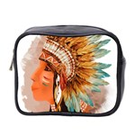 Native American Young Indian Shief Mini Toiletries Bag 2-Side