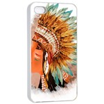Native American Young Indian Shief Apple iPhone 4/4s Seamless Case (White)