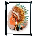 Native American Young Indian Shief Apple iPad 2 Case (Black)