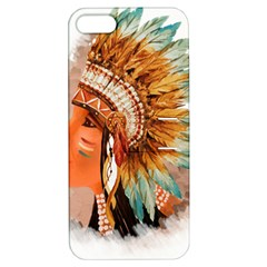 Native American Young Indian Shief Apple Iphone 5 Hardshell Case With Stand