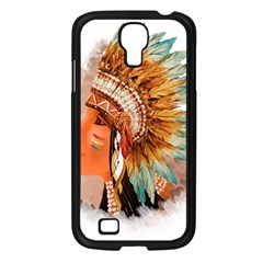 Native American Young Indian Shief Samsung Galaxy S4 I9500/ I9505 Case (black) by TastefulDesigns