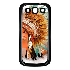 Native American Young Indian Shief Samsung Galaxy S3 Back Case (black)