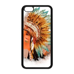 Native American Young Indian Shief Apple Iphone 5c Seamless Case (black) by TastefulDesigns
