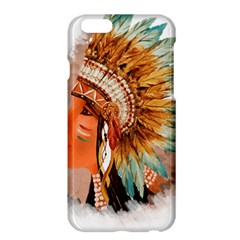 Native American Young Indian Shief Apple Iphone 6 Plus/6s Plus Hardshell Case by TastefulDesigns