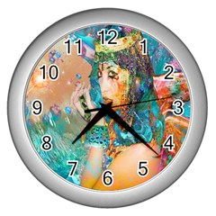 Star Illumination Wall Clocks (silver)  by icarusismartdesigns