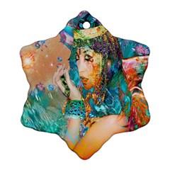 Star Illumination Ornament (snowflake)  by icarusismartdesigns