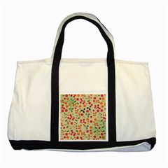Elegant Floral Seamless Pattern Two Tone Tote Bag