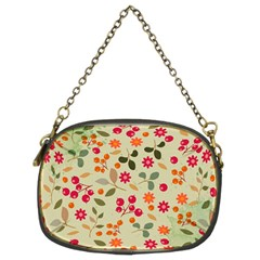 Elegant Floral Seamless Pattern Chain Purses (two Sides)
