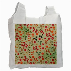 Elegant Floral Seamless Pattern Recycle Bag (one Side)