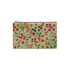 Elegant Floral Seamless Pattern Cosmetic Bag (small)