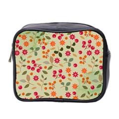 Elegant Floral Seamless Pattern Mini Toiletries Bag 2 Side