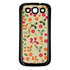 Elegant Floral Seamless Pattern Samsung Galaxy S3 Back Case (black)