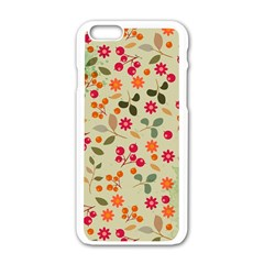 Elegant Floral Seamless Pattern Apple Iphone 6/6s White Enamel Case by TastefulDesigns