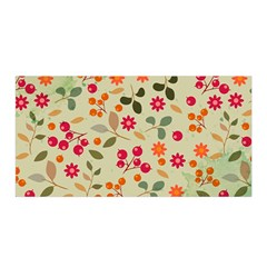 Elegant Floral Seamless Pattern Satin Wrap