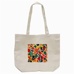 Seamless Autumn Leaves Pattern  Tote Bag (cream) by TastefulDesigns