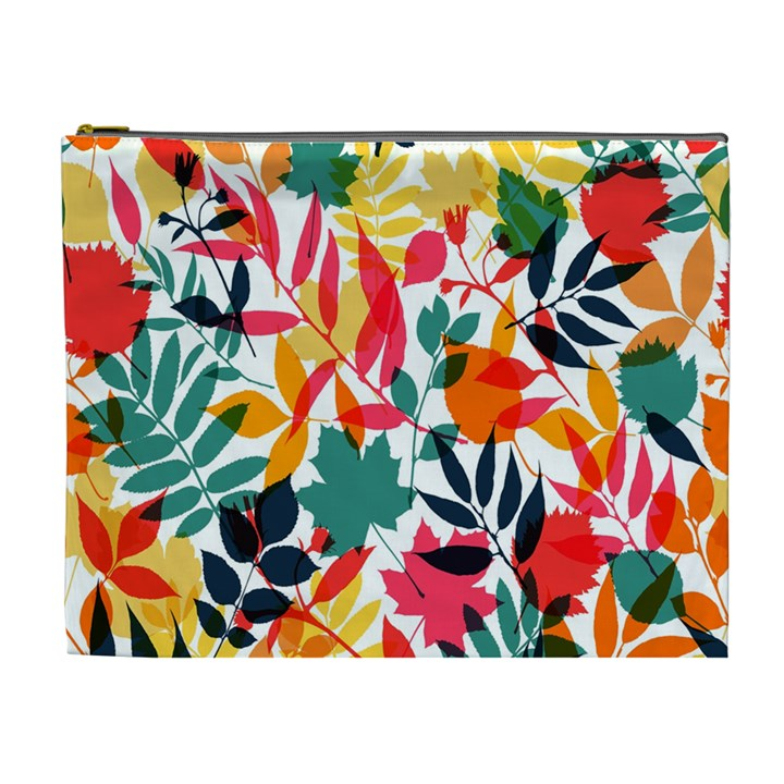 Seamless Autumn Leaves Pattern  Cosmetic Bag (XL)